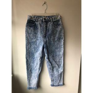 🌿 Super Rad 80s Vintage Acid Wash Jeans
